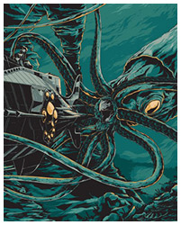 20000 Leagues Under the Sea poster art by Ken Taylor