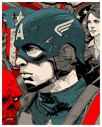 Captain America By Tyler Stout