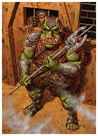 Gamorrean Guard from Return of the Jedi by Jason Edmiston