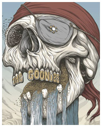 The Goonies poster art by Randy Ortiz