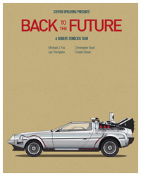 Back to the Future poster by Jesús Prudencio