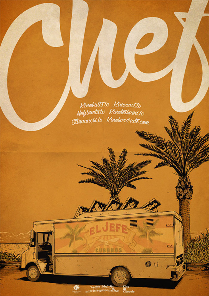 Chef (2014) alternative movie poster art by HARIJS GRUNDMANIS