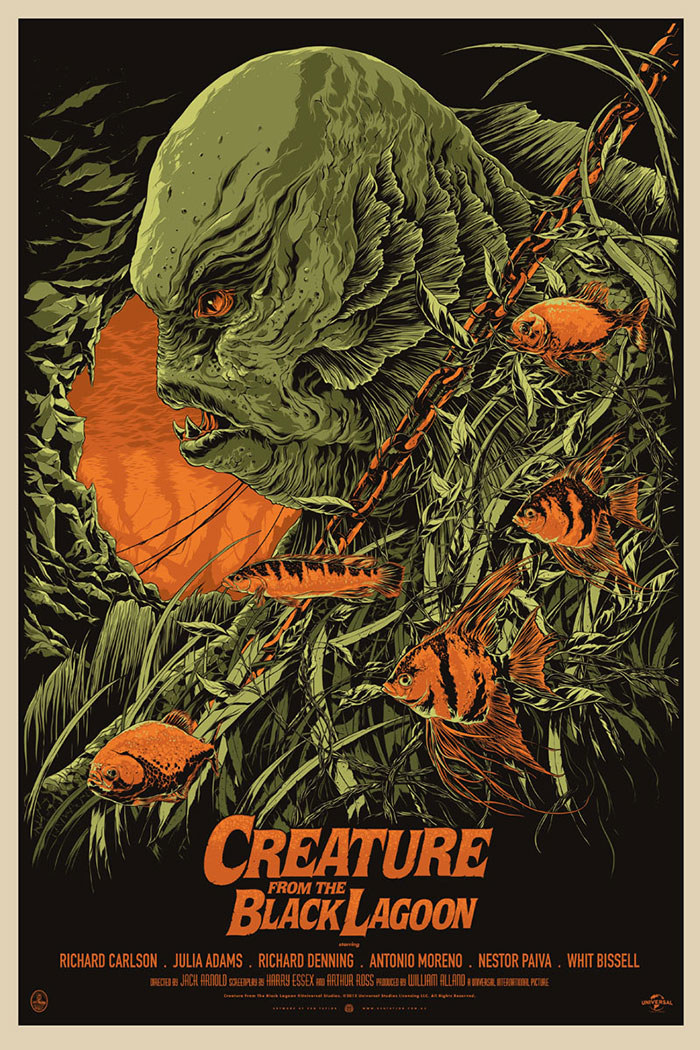 Creature From the Black Lagoon Poster by Ken Taylor