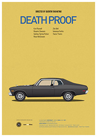 Death Proof poster art by Jesús Prudencio