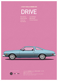 Drive poster art by Jesús Prudencio