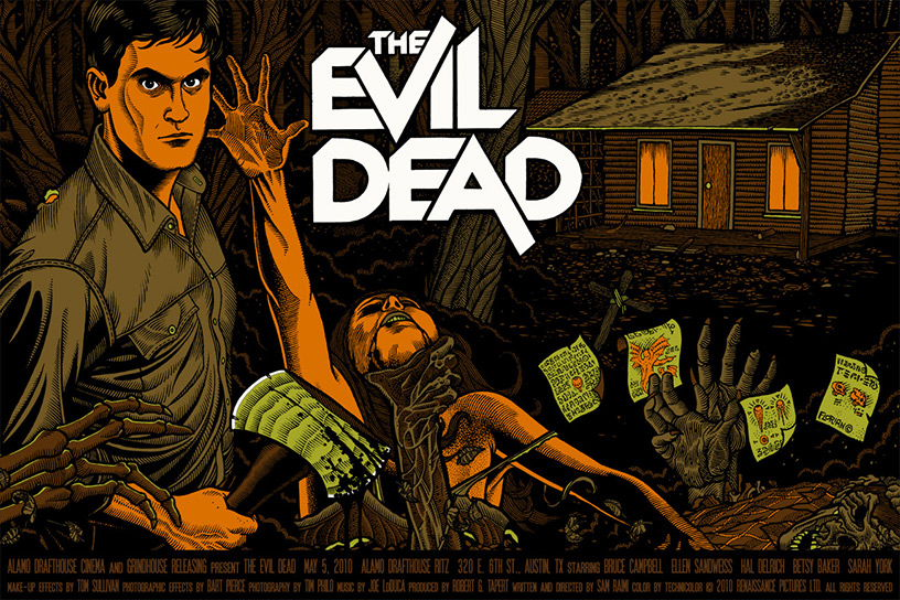 The Evil Dead poster art by Florian Bertmer
