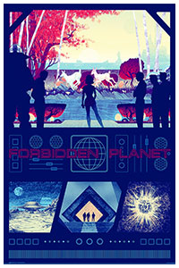 Forbidden Planet poster art by Kevin Tong