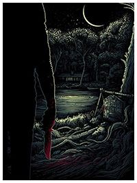 Friday The 13th Poster print by Dan Mumford