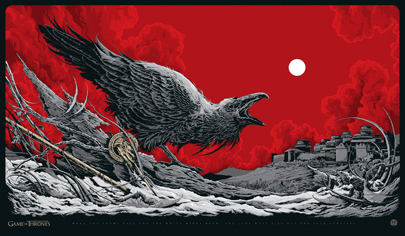 Game of Thrones poster art by Ken Taylor