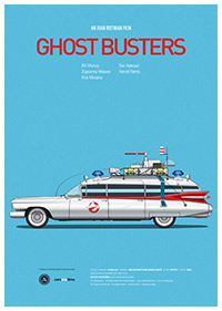 Ghostbusters poster art by Jesús Prudencio