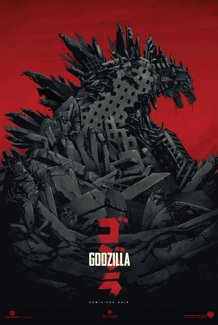 Godzilla 2014 poster print by Phantom City Creative