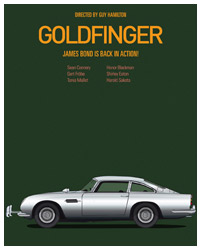 Goldfinger poster art by Jesús Prudencio