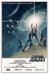 Guardians of the Galaxy (2014) alternative movie poster by Matt Ferguson