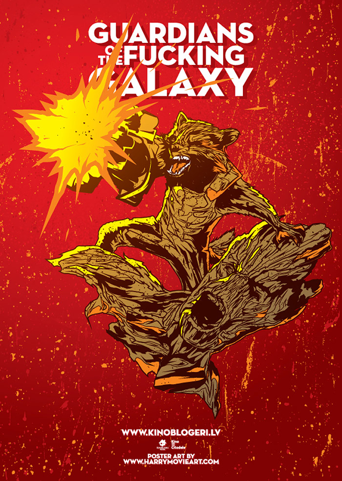 Guardians of the Galaxy (2014) Alternative movie poster art by HARIJS GRUNDMANIS