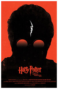 Harry Potter and the Deathly Hallows Part 1 poster by Olly Moss