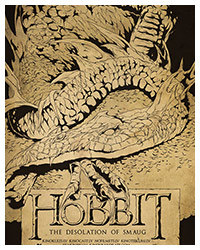 The Hobbit: The Desolation of Smaug (2013) alternative Movie Poster by Harijs Grundmanis