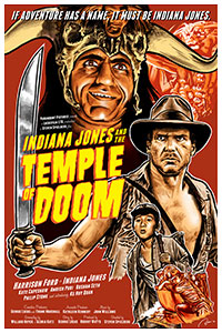 Indiana Jones and the Temple of Doom poster artwork by Blain Hefner