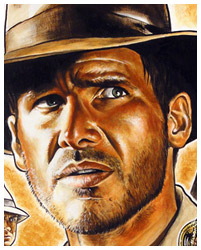 Raiders of the Lost Ark poster artwork by Blain Hefner