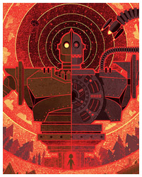 The Iron Giant poster by Kevin Tong