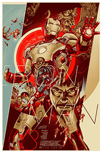 iron Man 3 poster print by Martin Ansin