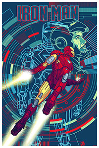 Iron Man poster by Kevin Tong
