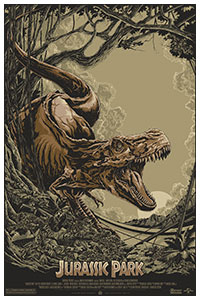 Jurassic Park poster by Ken Taylor