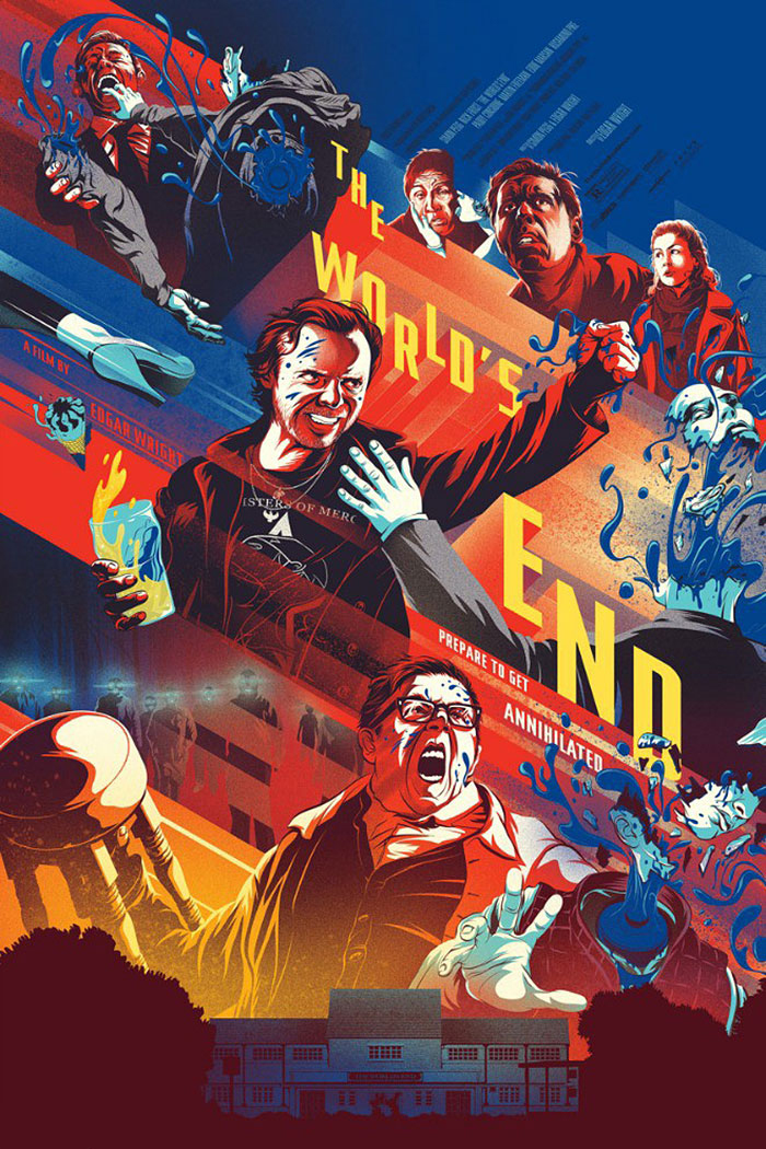 The World's End poster by Kevin Tong
