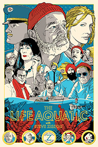 The Life Aquatic poster by Joshua Budich