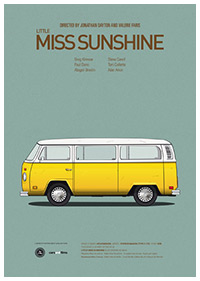 Little Miss Sunshine poster art by Jesús Prudencio