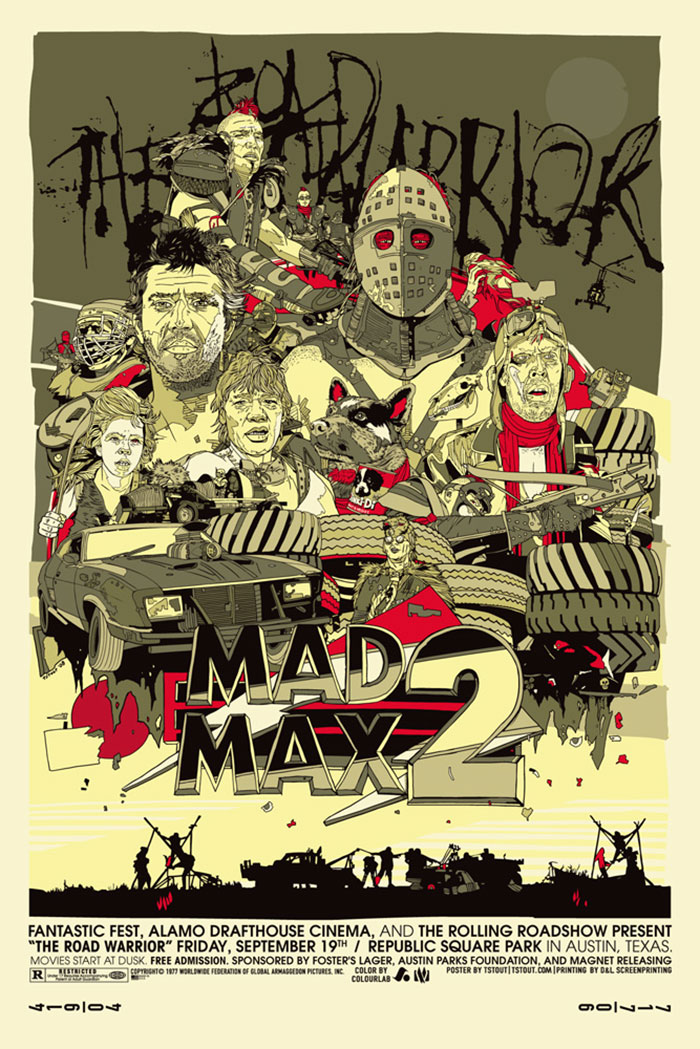 Mad Max 2 poster by Tyler Stout