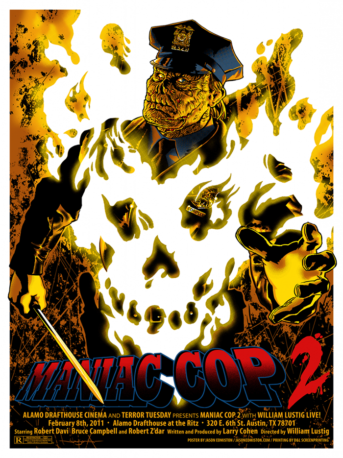 Maniac Cop 2 poster by Jason Edmiston