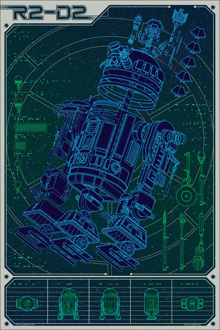 R2D2 - A Linch Pin Droid poster by Kevin Tong