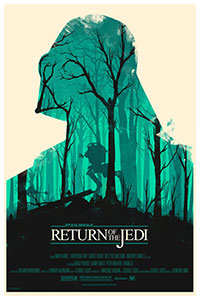Star Wars Return of the Jedi poster by Olly  Moss