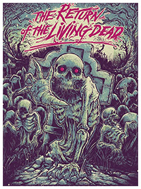 Return of the Living Dead poster print by Gdomachine