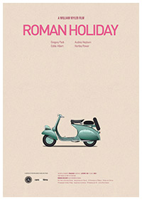 Roman Holiday (1953) poster art by Jesús Prudencio