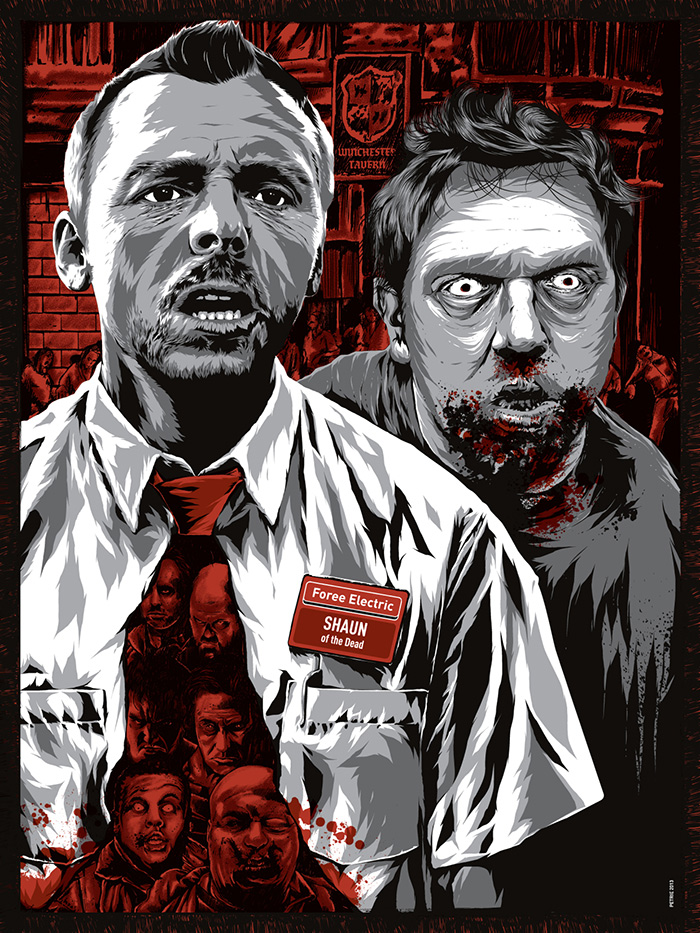 Shaun of the Dead poster by Anthony Petrie