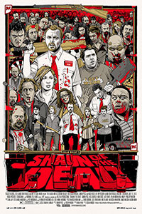 Shaun of the Dead poster by Tyler Stout