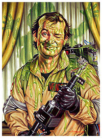 Slimed - Ghostbusters poster art by Jason Edmiston