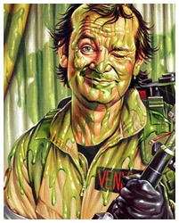 Slimed ghostbusters artwork by Jason Edmiston