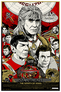 Star Trek2 The Wrath of Khan poster by Tyler Stout