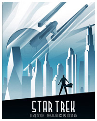 Star Trek Into Darkness poster art by Rodolfo Reyes