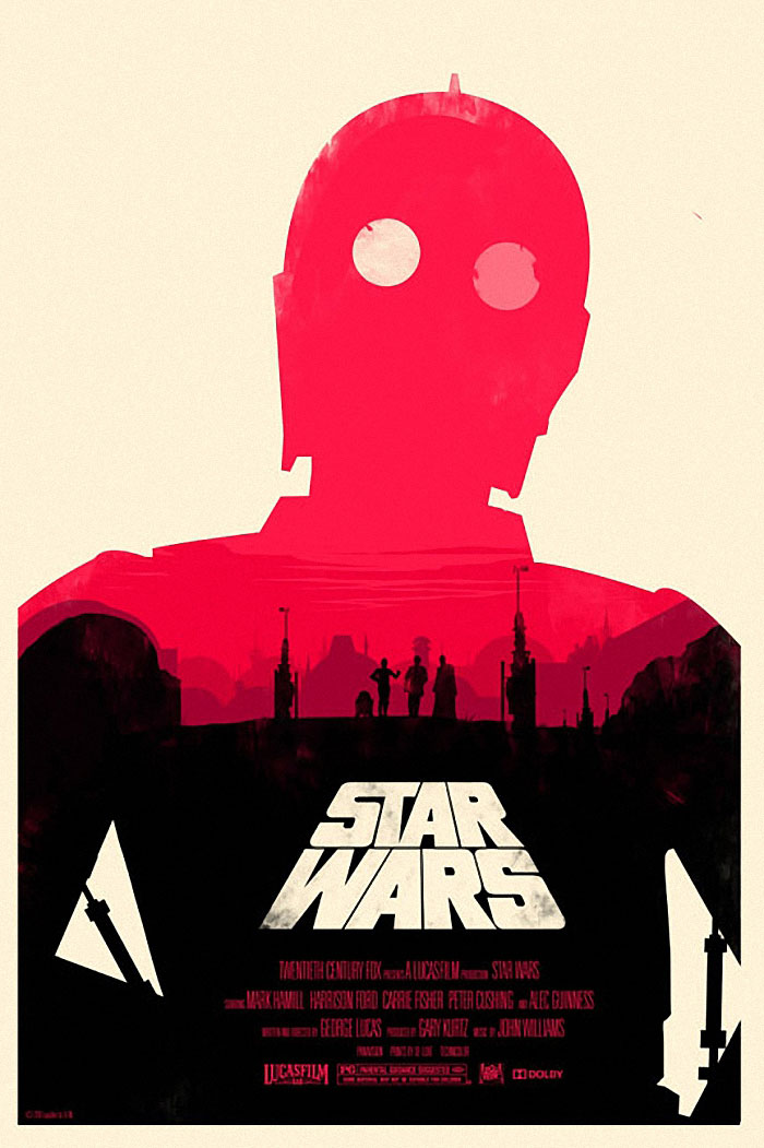 Star Wars A New Hope poster artwork by Olly Moss