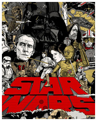 Star Wars A New Hope poster by Tyler Stout