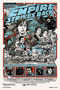The Empire Strikes Back poster By Tyler Stout