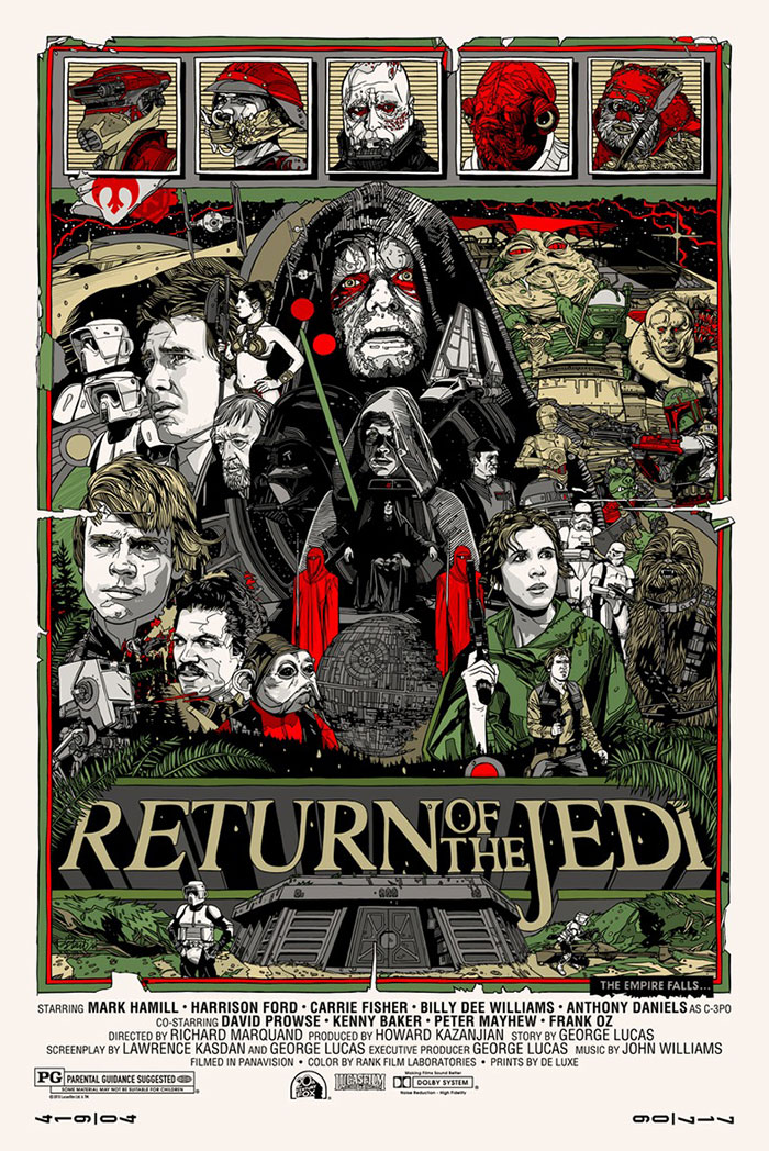 Star Wars Return of the Jedi poster by Tyler Stout