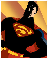 Superman poster print by Rodolfo Reyes