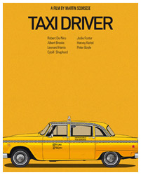 Taxi Driver poster art by Jesús Prudencio