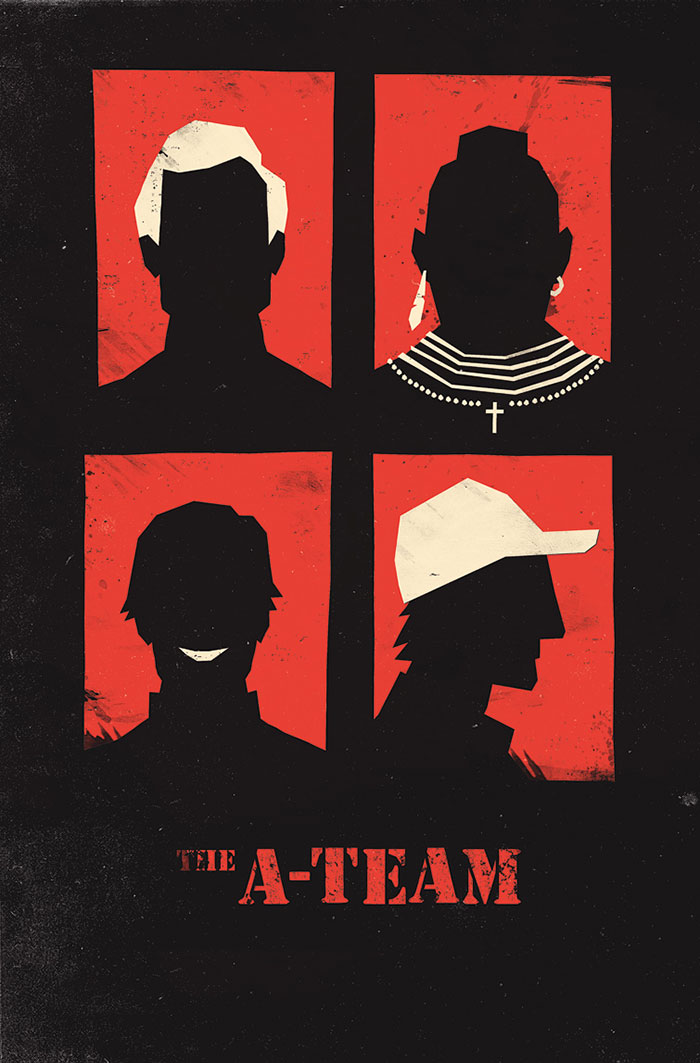 The A-Team poster art by Olly Moss