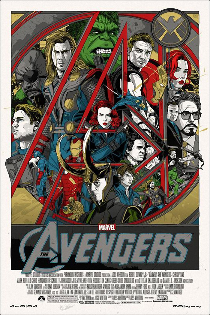 The Avengers (2012) poster by Tyler Stout