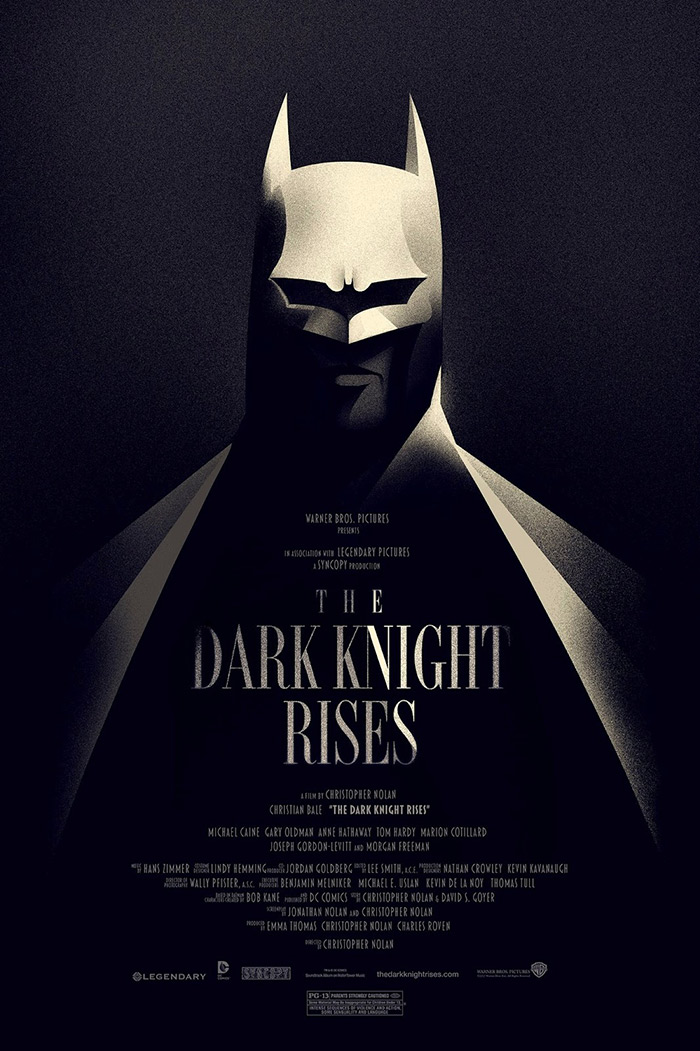 The Dark Knight Rises poster (reg version) by Olly Moss